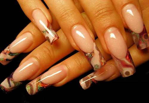 Офигенный френч на ногтях