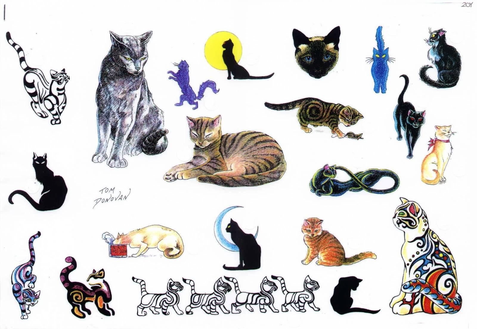 татуировки кошки в картинках